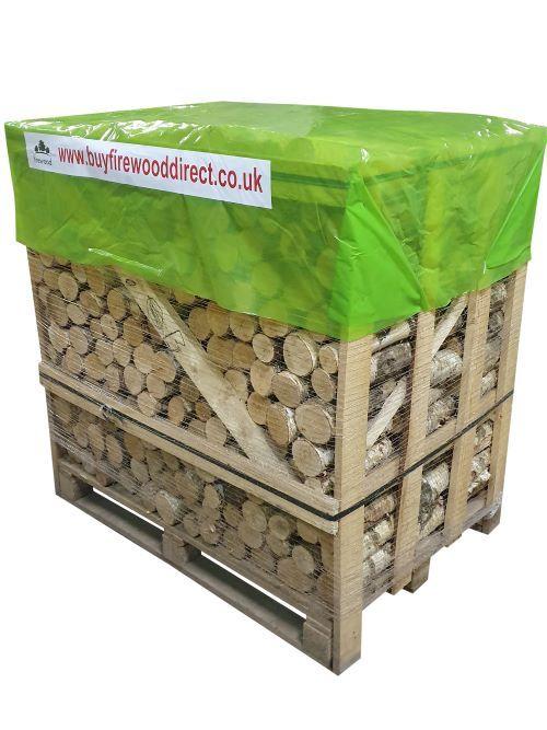 1.25M Flexi Crate – Kiln Dried Un-Split Ash Logs